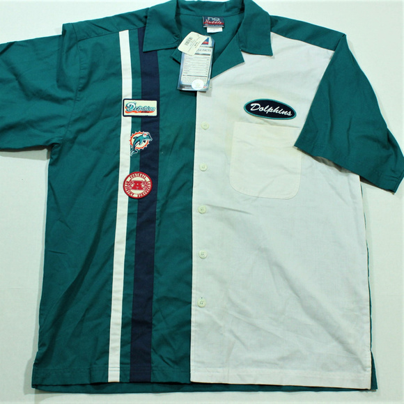 dff6ccd02 Vintage Miami Dolphins No Huddle Button Down Shirt